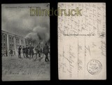 Brest-Litowsk sw-AK die brennende Zitadelle Feldpost 1916 (a1049)