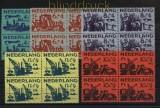 Niederlande Mi # 730/34 postfrisch Sommermarken 1959 4er-Blöcke (33554)