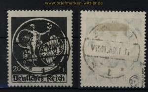 dt. Reich Mi # 138 IX gestempelt geprüft Winkler BPP (33367)