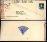 Niederlande Auslands-Zensur-Brief Noordwijk 23.6.1945 (33408)