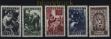 Saarland Mi # 267/71 postfrisch Volkshilfe 1949 (33324)