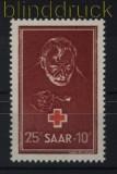Saarland Mi # 292 postfrisch Rotes Kreuz 1950 (33332)