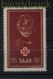 Saarland Mi # 292 postfrisch Rotes Kreuz 1950 (33333)