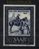Saarland Mi # 316 gestempelt Tag der Briefmarke 1952 (33343)