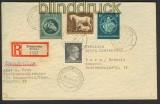 dt. Reich Mi # 899, 896 und 900 Auslands-R-Brief Traunstein 1944 (23429)