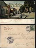 Bad Bentheim farb-AK Unterstrasse mit Bismarckdenkmal 1905 (d5838)