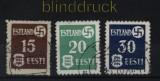 dt. Besetzung 2. WK Estland Mi # 1/3 gestempelt (33789)