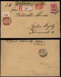 Danzig Mi # 193 x b, 202 und 203 auf R-Brief Danzig 1926 (33776)
