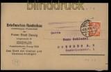 Danzig Mi # 193 x EF auf Zeitungsstreifband Briefmarken-Rundschau 1924 (33938)