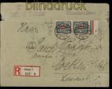 Danzig Mi # 116 (2) in MiF Einschreibe-Brief Danzig 1923 gepr. Schüler (33966)