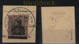 Saargebiet Mi # 13 x b I gestempelt Briefstück geprüft Braun BPP (33691)