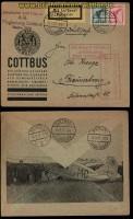 dt. Reich Luftpostbrief Cottbus 1927 nach Braunschweig (34091)