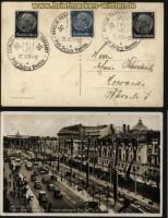 dt. Reich sw-Foto-AK 700 Jahre Berlin Unter den Linden Festschmuck SSt. 1937 (33915)
