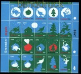 Niederlande Mi # 1683/1702 postfrisches Folienblatt Dezembermarken 1998 (34004)