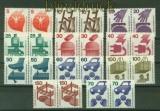 Bund Mi #  694/703 und # 773 postfrisch Unfallverhütung komplett waagerechte Paare (40069)