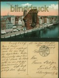 Danzig farb-AK Totalansicht Feldpost 3.1.1918 (d6001)