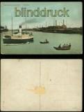 Danzig farb-AK Neufahrwasser Freihafen ungebraucht (d6002)