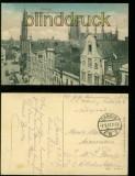 Danzig farb-AK Langermarkt mit Rathaus Feldpost 1917 (d6018)