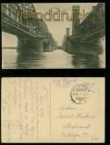 Dirschau sw-AK Alte und neue Weichselbrücke Feldpost 1917 (d6031)
