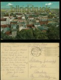 Graudenz farb-AK Panorama Feldpost 1918 (d6048)