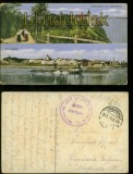 Graudenz farb-AK zwei Ansichten vom Schlossberg Feldpost 1915 (d6053)