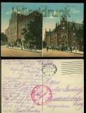 Graudenz farb-AK Oberrealschule und Kaiserliches Postamt Feldpost 1916 (d6054)