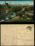 Bromberg farb-AK Blick von der Danziger Brücke Feldpost 1918 (d6055)