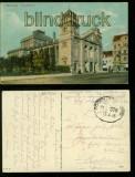 Bromberg farb-AK Stadttheater Bahnpost Feldpost 1915 (d6059)
