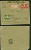 Danzig Mi # 117 und 135 MiF R-Brief Danzig 1923 (40351)