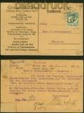 Danzig Mi # 133 EF auf Firmenkarte 1923 nach Neuteich (40352)