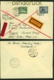 dt. Reich Mi # 669/70 auf Luftpost-Eilbotenbrief nach Zoppot 1938 (40401)