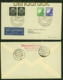 dt. Reich Mi # 529, 531 und 2 x 512 Luftpostbrief SSt. Berlin Luftpostbrief (40404)