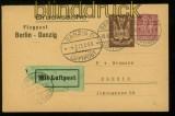 dt. Reich Privat-GSK PP 73 A2/02 Berlin Luftpost 30.6.1923 nach Danzig (40184)