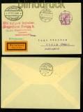 dt. Reich Mi # A 379 auf Luftpost-Drucksachenbrief aus Elbing nach Stolp über Danzig 1927 (40196)