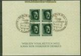 dt. Reich Mi # Block  8 gestempelt 48. Geburtstag Sonderstempel (40156)