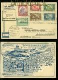 Ungarn Erstflug Budapest-Esztergem 1924 auf Flug-AK  (40286)