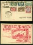 Ungarn Flugbeleg Budapest-Esztergem 1924 auf Flug-AK (40287)