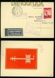 Ungarn Flugbeleg Debrecen-Budapest 1934 auf Flug-AK (40299)