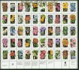 USA Mi # 2252/2301 Wildblumen kplt. Zdr.-Bogen postfrisch im Folder (34556)