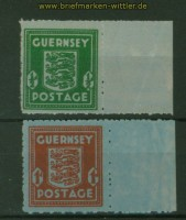 dt. Besetzung 2. WK Guernsey Mi # 4/5 postfrisch (34609)