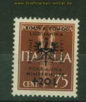 dt. Besetzung 2. WK Laibach Mi # 41 Aufdruckmarke postfrisch (34586)