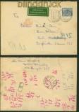 dt. Reich Mi # 41 a und 42 a auf Zustellungsurkunde Colenfeld 1887 (34619)