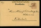 dt. Reich Mi # 45 auf Orts-Drucksachenkarte Ritterhude 1898 (34621)