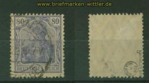 dt. Reich Mi # 114 c gestempelt geprüft Winkler BPP (34489)