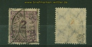 dt. Reich Mi # 315 gestempelt geprüft Infla Berlin (34547)