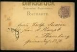 dt. Reich GSK mit T+T Stempel ELGERSBURG 1873 (34442)