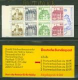 Bund Markenheftchen Mi # 23 a mZ postfrisch Zählbalken Burgen und Schlösser (34502)