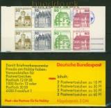 Bund Markenheftchen Mi # 23 d mZ postfrisch Zählbalken Burgen und Schlösser (34500)