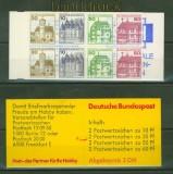 Bund Markenheftchen Mi # 23 e mZ postfrisch Zählbalken Burgen und Schlösser (345001