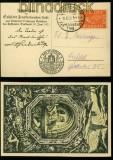 dt. Reich Mi # 111 auf Festposrkarte Kyffhäuser Flug 1921 (34131)